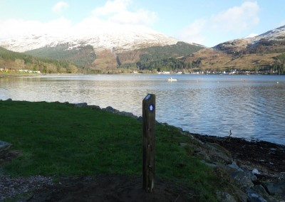 Waymarker at Lochgoilhead