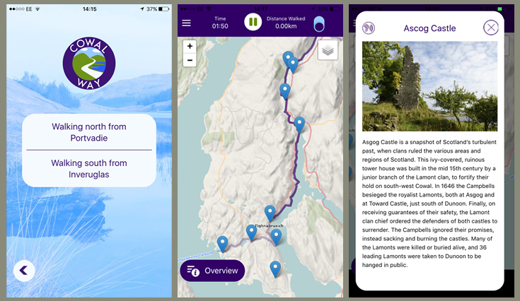 Loch Lomond & Cowal Way Launches New Mobile App